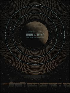 Iron & Wine Poster    http://www.dkngstudios.com/work/posters/#