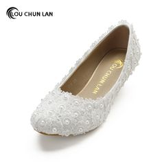 Aesthetic White dwarf with Lace Flower Wedding Shoes Pearl Shoes Bridal Shoes banquet formal dress Shoes large size Bridal Shoes, Wedding Shoes, Shoe Selfie, Pearl Shoes, Princess Bridal, Flower Aesthetic, Dress Shoes, Women's Shoes, Lace Flowers