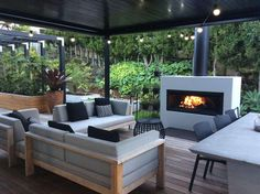 Trendz Outdoors has a wide range of outdoor fireplaces delivered, for free, across New Zealand. From small outdoor fireplaces to large, we stock it. Outdoor Wood Fireplace, Outdoor Fireplace Designs, Backyard Fireplace, Backyard Patio, Outdoor Fireplaces, Gas Fireplaces, Modern Fireplaces, Outdoor Rooms, Outdoor Furniture Sets