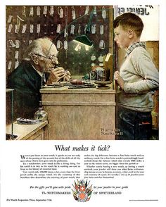 1950- Watchmaker- by Norman rockwell