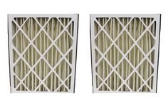 2 Pleated HVAC Filters Fit Goodman, MERV-8 Rating, Approx Size: 20x25x5