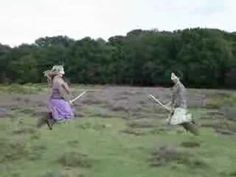 Flying Witches Spotted in New Forest: This cute film by Leo Bridle uses the pixilation technique.