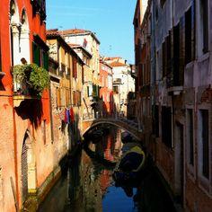 Gondola through Venice