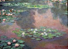 Water Lilies: 1905 by Claude Monet (Boston Museum of Fine Arts, MA) - Impressionism