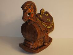 Vintage Rocking Horse Cookie Jar made in USA by Treasure Craft
