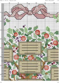Cross Stitch Family Tree