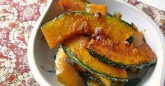 甘辛にニンニクとお酢を入ったドレッシング風なタレに浸します。コンガリかぼちゃに染みた酸味が煮物とは違う濃厚さとなります!