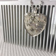 New listing on Etsy for Valentine's Day! - This zero waste necklace is made from recycled computer connector pins. Heart Shaped Necklace, Heart Pendant Necklace, Industrial Jewelry, Valentines Day Gifts For Her, Craft Storage, Zero Waste, Display Ideas, Handcrafted Jewelry, Heart Shapes