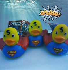 NEW! DC Justice League Superman Rubber Duck  Baby Shower Cake Birthday Bathtub  #DCComics ***Follow the link to buy me today.