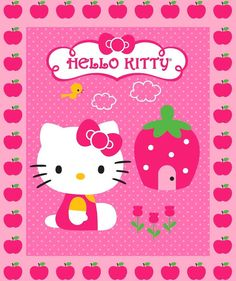 Hey, I found this really awesome Etsy listing at https://www.etsy.com/listing/120993856/hello-kitty-crib-quilt-6500