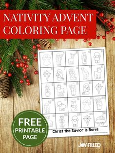 This nativity advent coloring page provides a simple, easy-to-do activity for counting down to Christmas while keeping Christ at the center of the holiday. #advent #Christmas #nativity #freeprintable Nativity Advent Calendar, Advent Calenders, Christmas Calendar, Christmas Countdown, Christmas Time, Christmas Crafts, Christmas Nativity, Christmas Ideas, Christmas Tables