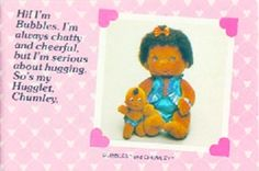 """I was given this exact Hugga Bunch Doll """"Bubbles"""" as a present for my Daycare Graduation~ 1986. :}"""