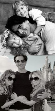 John Stamos & the Olsen twins. Then, and Now. I actually love this.