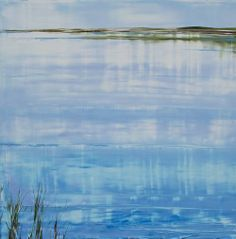 Keys Flats; oil on panel #markwhite #markwhitefineart #mwfa #fineart #gallery #landscapes #oilpaint #paintings #water #reflections #santafe #newmexico #canyonroad #artist #painter