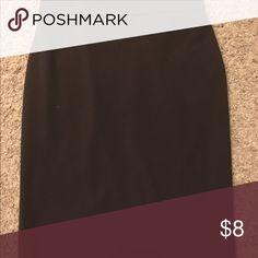Black Pencil Skirt Zipper closure and slit in the back. Skirts Pencil