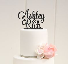 PERSONALIZED FIRST NAMES WEDDING CAKE TOPPER    PLEASE NOTE: We love to allow 3-4 weeks for the production of our custom items but if you need