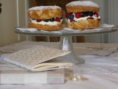 Fat free sponge cake, so you can indulge in more of the fruit and cream filling.