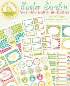 EASTER Free printable labels by inktreepress.com Download at blog.worldlabel.com