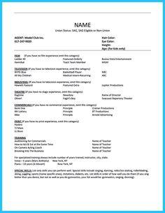 awesome outstanding acting resume sample to get job soon check more at http - Actor Resume Template
