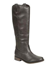 Look what I found on #zulily! Gray Rider Boot by Breckelle's #zulilyfinds
