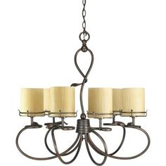 Thomasville Lighting Willow Creek Collection Weathered Auburn 6-light Chandelier