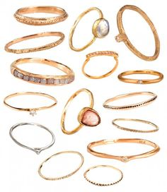 I want every single one of these! -Satomi's Stackable Rings