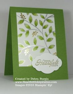 Heartfelt Inkspiration - Page 2 of 21 - Stamping Up Cards, Foil Stamping, Paper Cards, Foil Paper, Embossed Cards, Card Sketches, Sympathy Cards, Flower Cards, Alcohol Markers