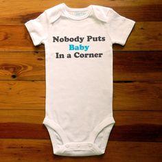 Baby in a Corner Onesie