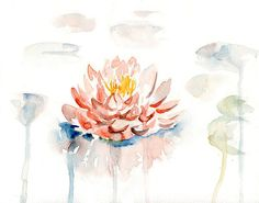 Waterlily Print  from my original watercolor painting by Ireart, $18.00