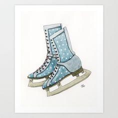 Polka dot ice skates