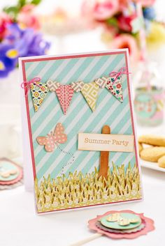 Invite someone to a summer party with this pretty card / Crafts Beautiful, August 2015