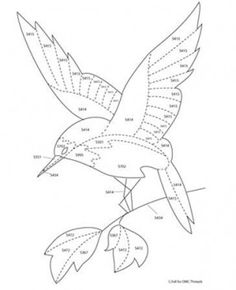 Hummingbird downloadable project from DMC. Would make lovely appliqued wall hanging.