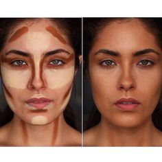 """Sharing @alatorreee before & after contouring on herself using the Light & Medium Cream Contour Kit. She used lightest highlight shade in the palette and…"""