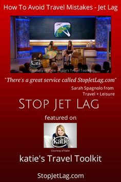 Stop Jet Lag - Customized jet lag recommendations for real world flights