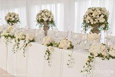 head table flower arrangements