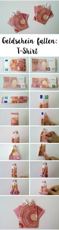 DIY Geldschein falten: T-Shirt // DIY Money Folding: T-Shirt