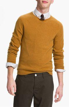 Topman Lambswool Blend Crewneck Sweater | Nordstrom