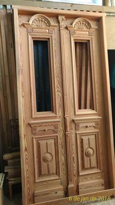 Wooden Double Doors, Double Front Doors, Wooden Doors, Front Gate Design, Wooden Door Design, Door Design Interior, Front Gates, Grill Design, Glass Design