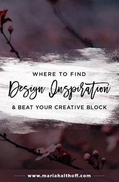 If you're having a creative block and need some graphic design inspiration, I have put together a list of my graphic design go-to sites to find inspiration before working on my next project. Pin for the next time you get stuck and need some creative direction!