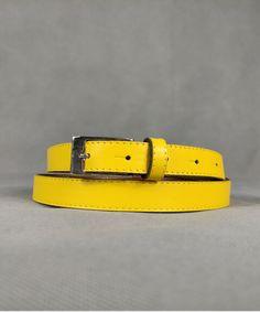 Ζώνη Κίτρινη με Ασημί Τόκα | Vaya Fashion Boutique