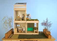 Yes my 10 year old self, someone gets what you mean. modern mod dollhouse.