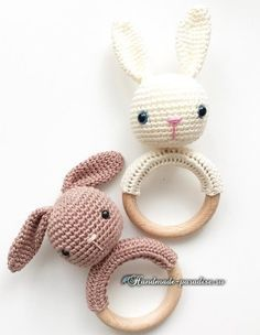 Вязание крючком кроликов амигуруми (1)