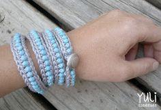 free crochet beaded bracelet pattern ✿⊱╮Teresa Restegui http://www.pinterest.com/teretegui/✿⊱╮
