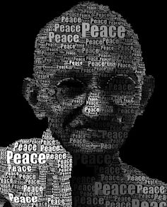 Neoformix Ghandi Word Portrait:-discovering and illustrating patterns in data Mahatma Gandhi, Peace On Earth, World Peace, Typography Portrait, Kreative Portraits, Tachisme, Gandhi Quotes, Gandhi Jayanti Quotes, Graphisches Design