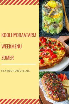 Koolhydraatarm weekmenu vol met lente recepten Mimosa Salad, Gourmet Recipes, Diet Recipes, Healthy Recipes, Vegetable Pizza, Food Print, Paleo, Keto, Salads