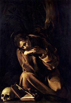 Caravaggio's depictions of Saint Francis.