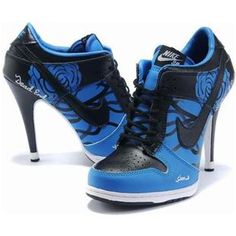 http://www.asneakers4u.com/ Nike Dunk High Heels Low Navy Black