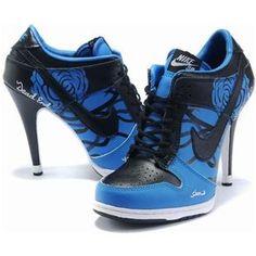 http://www.asneakers4u.com/ Nike Dunk High Heels Low Navy Black