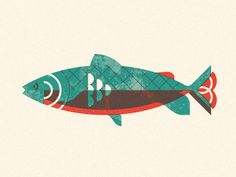 Trout designed by Nick Matej. Connect with them on Dribbble; Owl Tattoo Design, Feather Tattoo Design, Tattoo Designs, Fish Graphic, Vintage Illustration Art, Tattoo Graphic, Fish Art, Japanese Art, Screen Printing