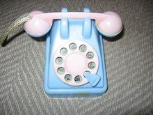 Toy Telephone Bank with Rattle